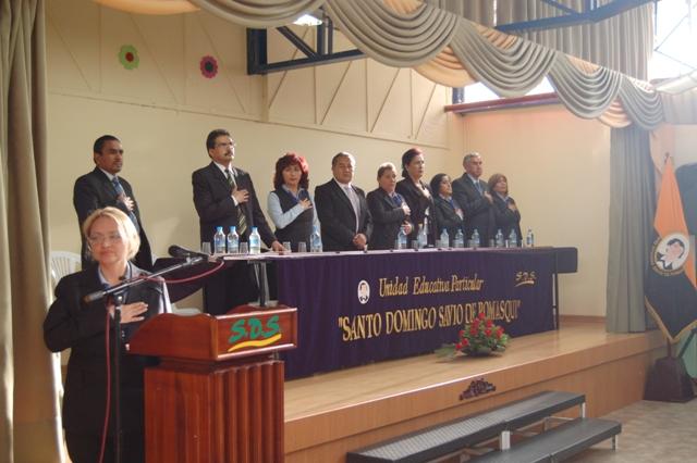 SESIÓN SOLEMNE POR EL 12VO ANIVERSARIO DE LA U.E. DOMINGO SAVIO